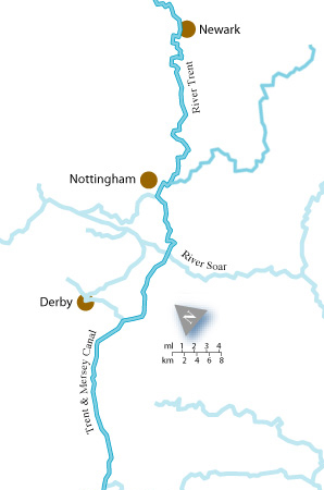 Canal Holidays On The River Trent With Marine Cruises - River trent map